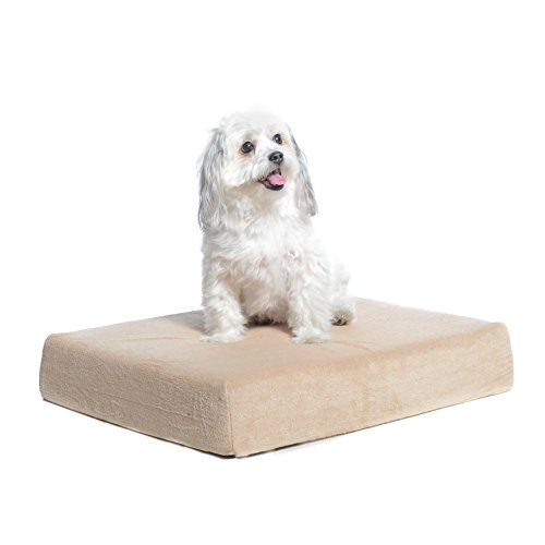 Milliard Premium Orthopedic Memory Foam Dog Bed with Anti-Microbial Removable Waterproof Washable Non-slip Cover - (Small) 60cm x 45cm x 10cm - Memory Foam Cat Bed