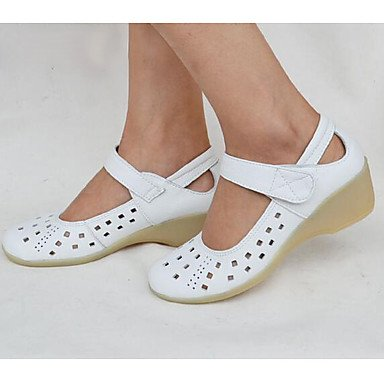 Summer Comfort Boat Cowhide 4In 1In UK2 3 White Women'S Casual Wedge Fall US3 Little EU34 Comfort Kids Heel Shoes 1 wRq6S0I