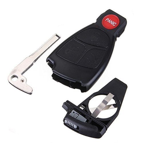 Remote Keyless Smart Key fob Case Shell With Battery Holder For Mercedes - Stores Outlet Napa
