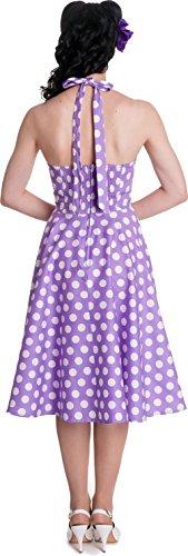 mit Mariam Punkte Kleine Retrokleid Kleid Dots Größen Lavendelfarben weißen Hell Bunny Damen Ixq0twv0ZA