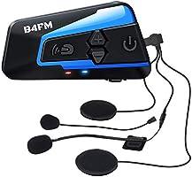 LX-B4FM バイク インカム 4riders 4人同時通話 FMラジ Bluetooth防水インターコ バイク用インカム スマホ音楽再生 Siri/S-voice IP67防水 無線機いんかむヘルメット用インカム 連続15時間の長時間通話...