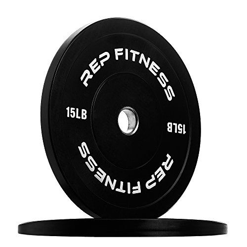 Rep Colored Bumper Plates for Strength and Conditioning Workouts and Weightlifting, 1-3 yr Warranty, No Odor (15.00) by Rep Fitness (Image #6)