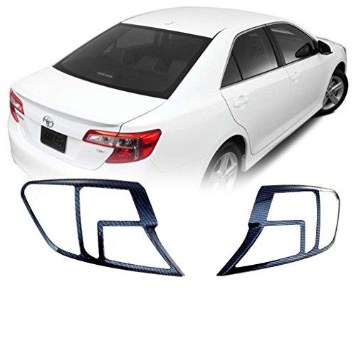 - EAG 12-14 Toyota Camry Tailight Bezels Black Carbon Fiber Look ABS (67-0505CF)