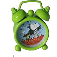 Çalar Saat Alarmlı Masa Saati Mini Çalar Saat Metal Kasa Snoopy Dog Anahtarlık Saat