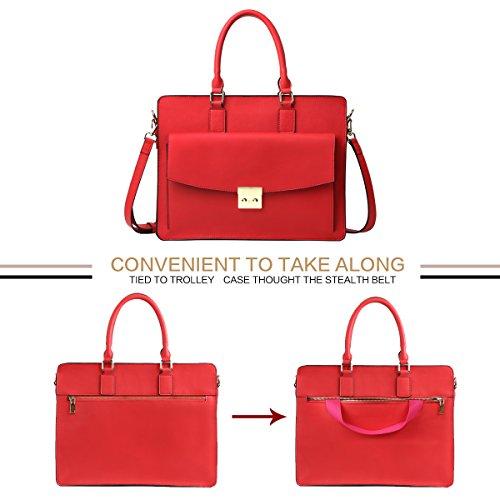 femme véritable cuir bandoulière document cuir sac sac Rouge sac porte en en Leathario à main 5YfAqxf