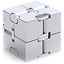 Metal Infinity Cube Silver Aluminum Alloy White Fidget Pressure Reduction Toy