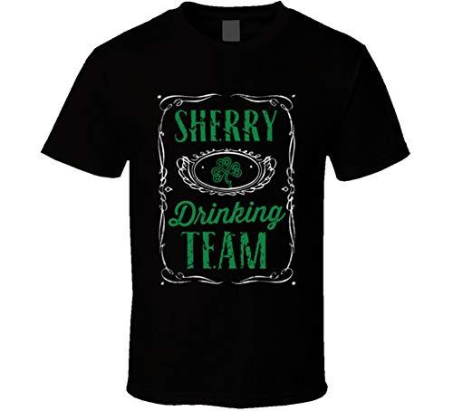 Sherry Drinking Team Beer Irish Name St Patricks Day T Shirt L Black (Best Sherry For Drinking)