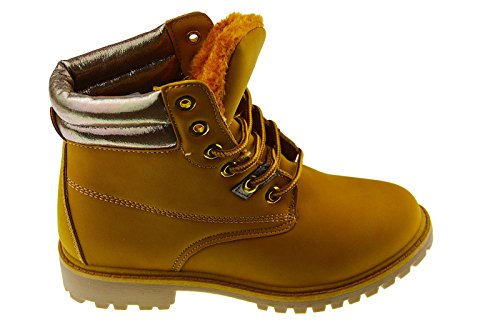 Herbst/Winter Damen Herren High Top Stiefel Winter Boots Sport Freizeit Schuhe 36-41 (39, Camel_Champ)