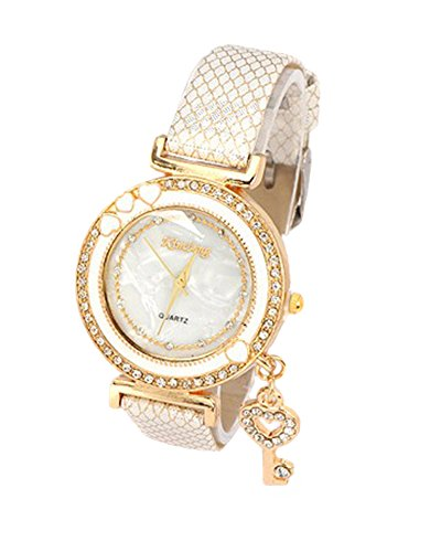 Young & Forever Women's Navratri Diwali Special Fashionista Key Charm Bracelet Watch Gold Toned by Young & Forever