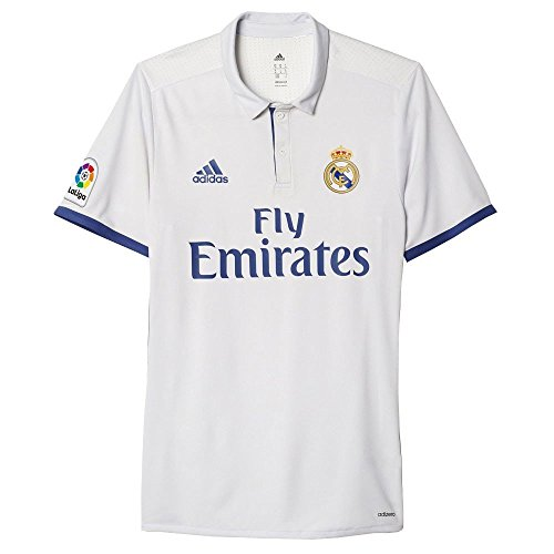 adidas Real Madrid Authentic Home Jersey/16/17,  Crywht/Rawpur