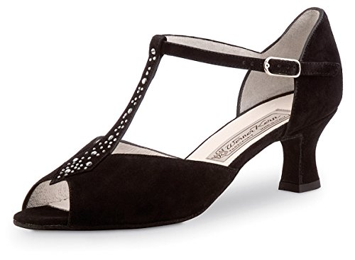 Werner kern-chaussures de danse femme-talon 5,5 daim claudia - Noir - Noir, 34 EU / 2 UK EU