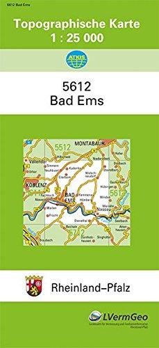 TK25 5612 Bad Ems: Topographische Karte 1:25000 (Topographische Karten 1:25000 (TK 25) Rheinland-Pfalz (amtlich)) Landkarte – 1. Oktober 2015 3896370294 Deutschland Landkarten und Atlanten Messtischblatt