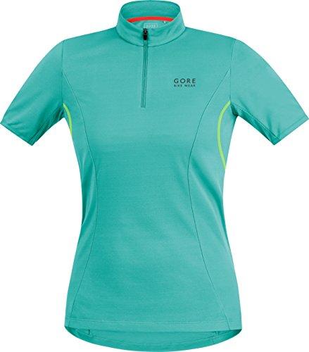 (GORE BIKE WEAR Women's  Jersey, Turquoise/Neon Yellow, X-Large)