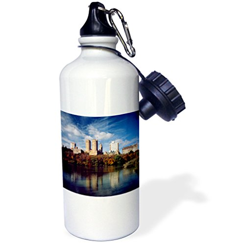 3dRose wb_192224_1 Usa, New York City, Central Park, Lake And Buildings Sports Water Bottle, Multicolor, 21 oz by 3dRose