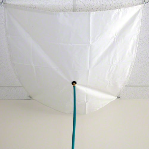 - 5'x5' Translucent Vinyl Heavy Duty Roof Leak Tarp (4935-5x5t)