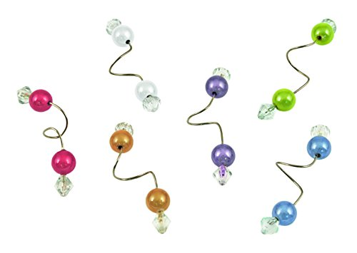 Beaded Stemware Wine Charms by Blush - Set of 6