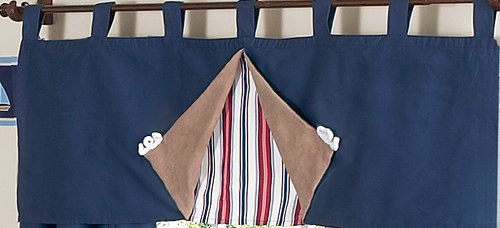 Sweet Jojo Designs Nautical Nights Sailboat Boys Window Valance