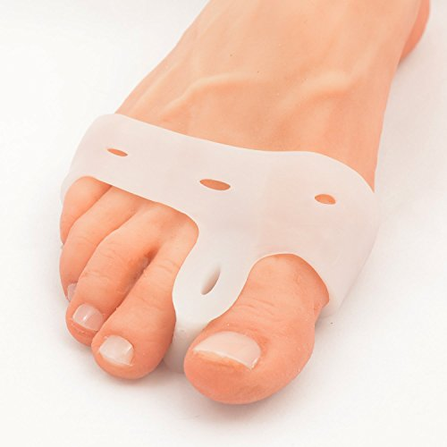 Dr. Frederick s Original Deluxe Bunion Pad & Toe Spacer - 2 Pieces - Soft Gel Toe Separators for Active People - Pain Relief for Bunions & Tailor s Bunions - Heavy Duty