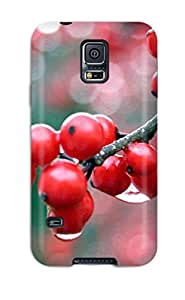 New Fashionable DXcentral EZdHh772BqTJy Cover Case Specially Made For Galaxy S5(nature Berries Red Flowers Plants)
