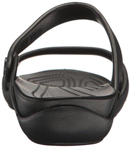Black V Cleo Donna W Black Blk Crocs Nero con Zeppa Sandali qgvC55xw