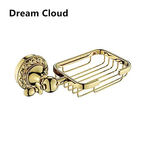 Dream Cloud Brass Material Bathroom Accessories Gold Soap Basket Wall Mount ()