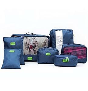 DYSS - Organizador para maletas Hombre Mujer azul azul: Amazon.es: Equipaje