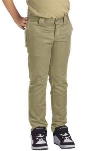 Dickies Big Boys' Skinny Straight Pant, Khaki, 16