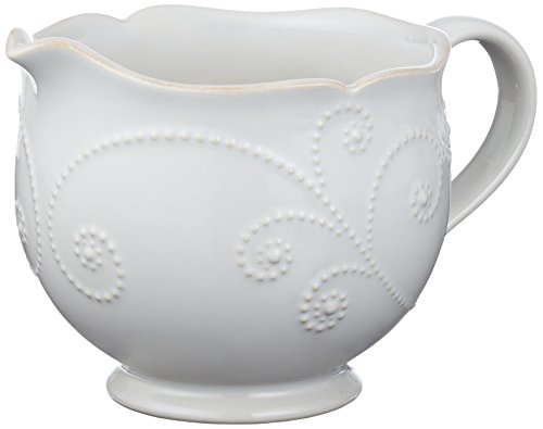 China Dinnerware Gravy (Lenox French Perle Sauce Pitcher, White)