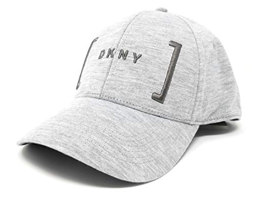 DKNY Mens 6 Panel Logo Cap Hat (Heather Grey