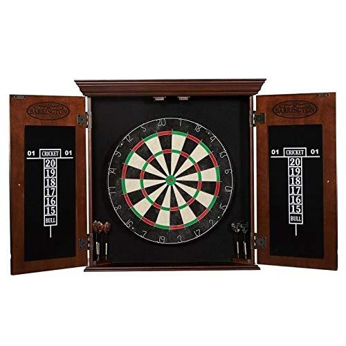 Barrington Chatham Bristle Dartboard Cabinet Set: Professional Hanging Classic Sisal Dartboard with...