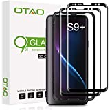 Galaxy S9 Plus Screen Protector Tempered Glass (2 Pack), OTAO 3D Curved Dot Matrix [Full Screen Coverage] Glass Screen…