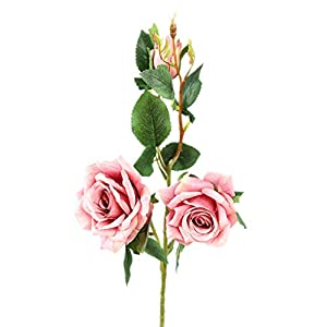 Zerama 3 Heads Artificial Cloth Rose Flower Fake False Blossom Floral Wedding Bouquet Festival Party DIY 75