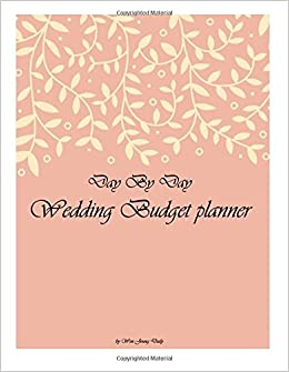day by day wedding budget planner diary note book office