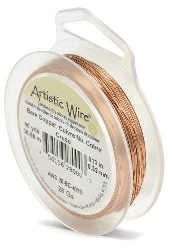 Artistic Wire 28-Gauge Bare Copper Wire, 40-Yards