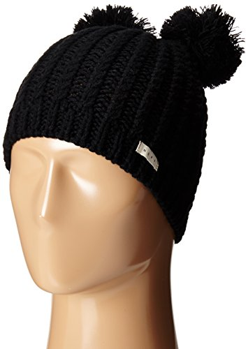 Neff Women's Jade Double-Pom Beanie, Black, One Size