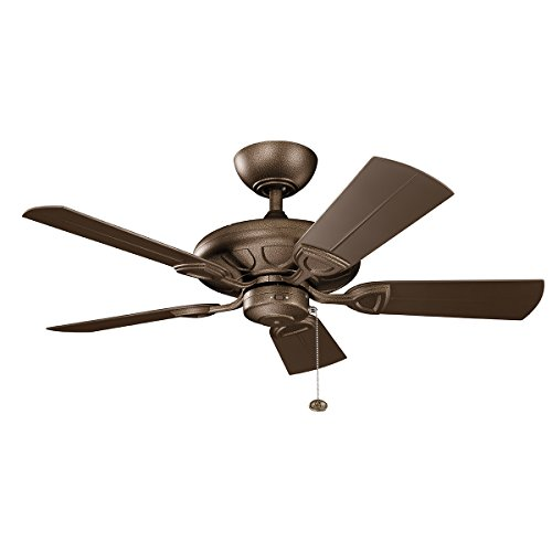 Indoor Ceiling Fans Light With Weathered Copper Powder Coat Tone Finish Aluminum Material 42 inch