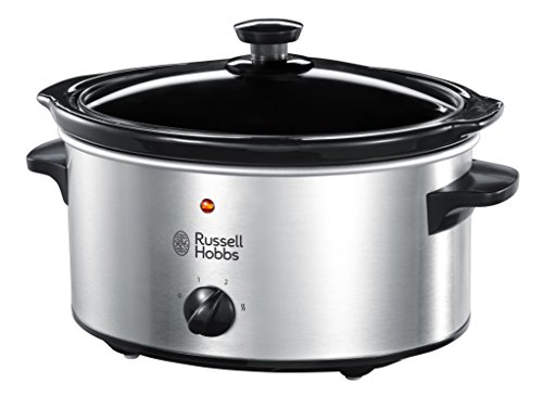 -[ Russell Hobbs Slow Cooker 23200, 3.5 L - Stainless Steel Silver  ]-
