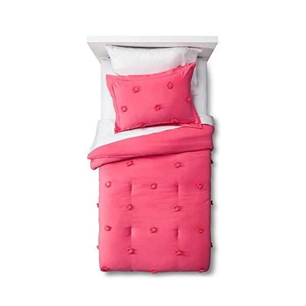 Pom-Pom-Comforter-Set-Pillowfort-Pink-tuffy-FullQueen