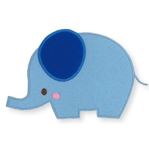 Blauer Elefant Bügelbild Aufnäher 1 Stück Amazonde Küche Haushalt