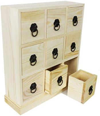 Caja (Madera con 9 cajones: Amazon.es: Hogar