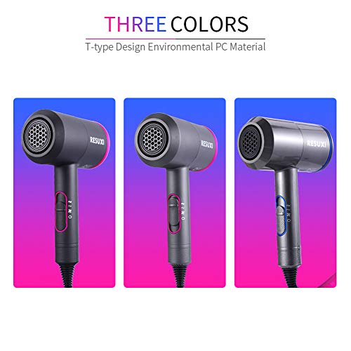 1800W Professional Salon Grade Hair Dryer Powerful High Power Negative Ion Dryer, Infrared Low Noise Hot Air Cold Air Nozzle, Black,Black,110V -  ZCG, 124-734