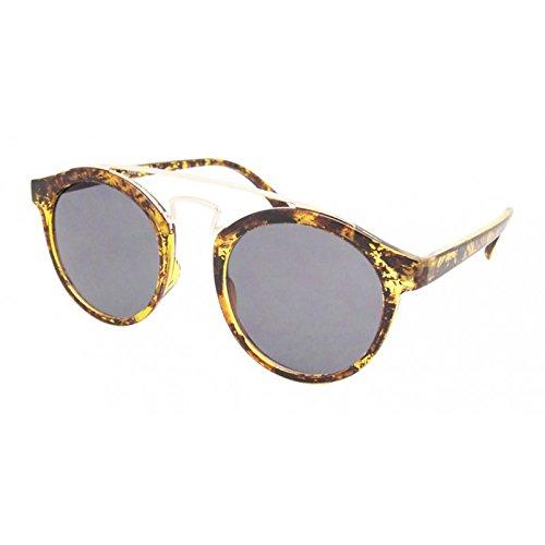Gafas de sol de la vendimia alrededor 400UV metálico doble ...