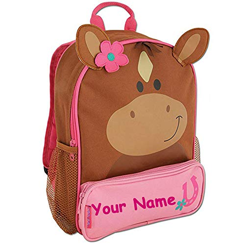 Stephen Joseph Personalized Little Girls' Sidekick Horse Backpack With -