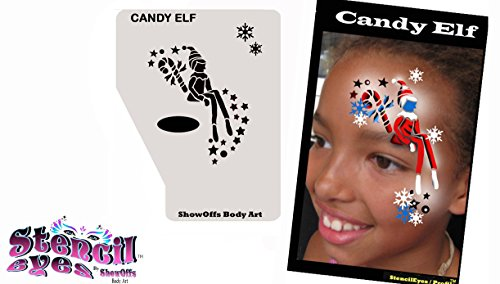 Face Painting Stencil - StencilEyes Profile Bella - (Cute Halloween Face Painting)