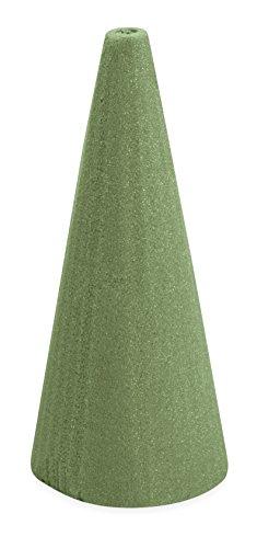 FloraCraft Floral Dry Foam Cone 3.8 Inch x 8.8 Inch Green -