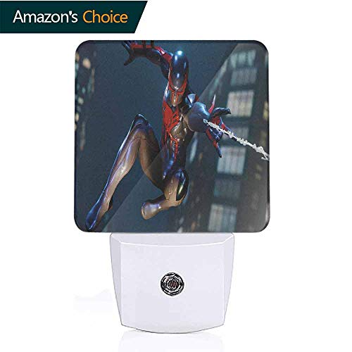 OriginalSun LED Night Light with Dusk-to-Dawn Sensor for Bedroom Spiderman
