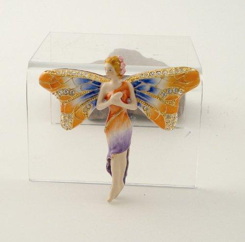 (2.5 Inch Dragonfly Fairy Jeweled Jewelry/Trinket Box Figurine)