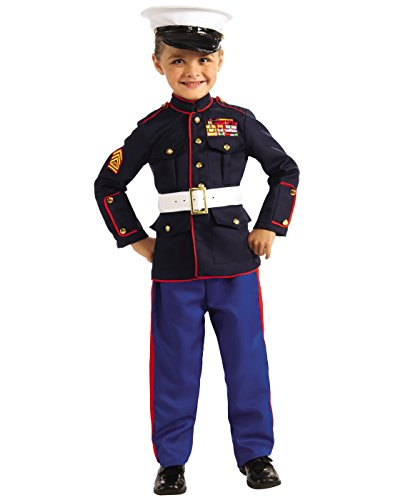 Marines Uniform Costume (Young Heroes Marine Dress Blues Costume, Large)