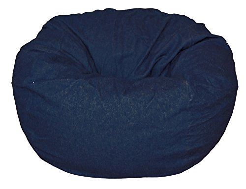 Ahh! Products Dark Blue Denim Washable Large Bean Bag Chair by Ahh! Products