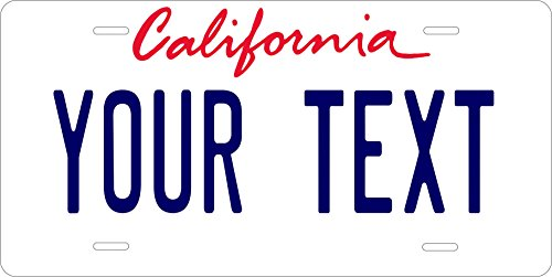 (PhotoZoneGa 50 State Personalized Custom Novelty Tag Vehicle Auto Car Bike Bicycle Motorcycle Moped Key Chain License Plate (California 1996))